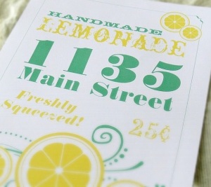 Lemonade Stand Flyer