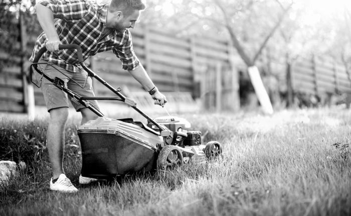 Starting the Lawnmower